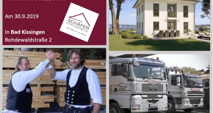 Einladung zur Hausaufstellung am 30. September in Bad Kissingen