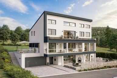 Pultdachhaus Entwurf von Schäfer Fertighaus