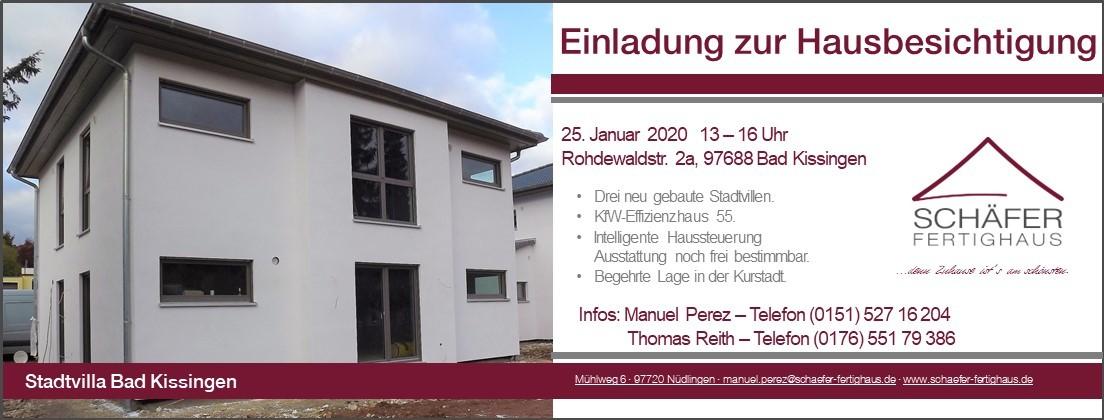 Einladung zur Hausbesichtigung Bad Kissingen