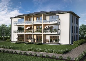 Neunfamilienhaus von Schäfer Fertighaus
