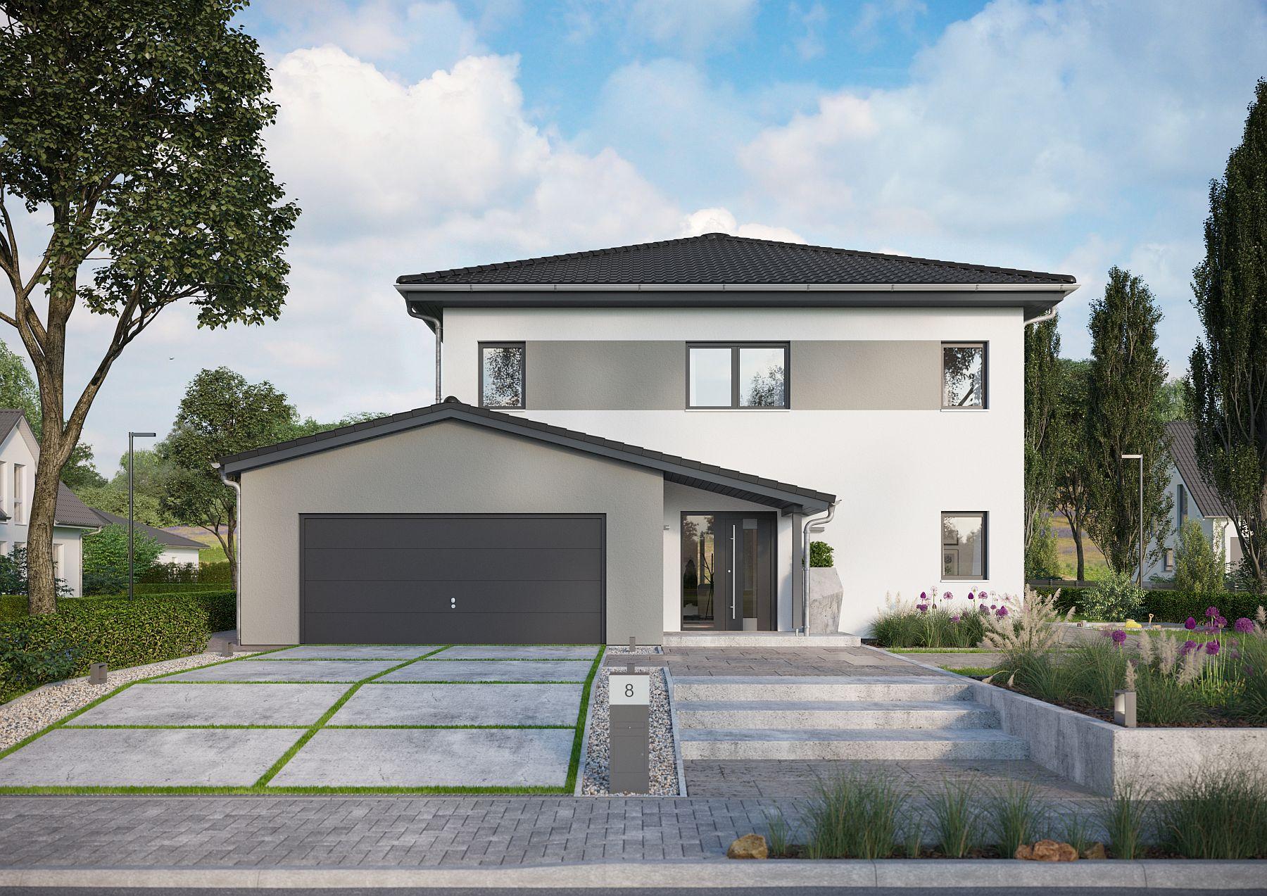 Hausplanung mit Garage und Carport