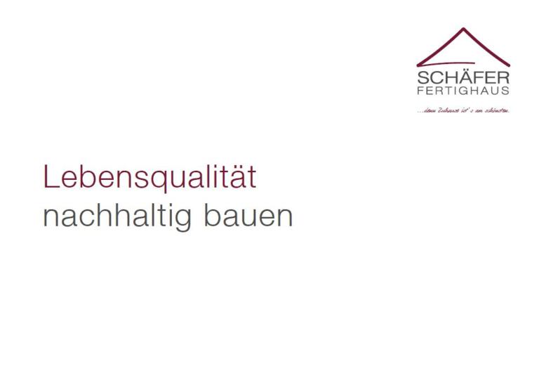 Titelbild Imagebroschüre Schäfer Fertighaus 2021