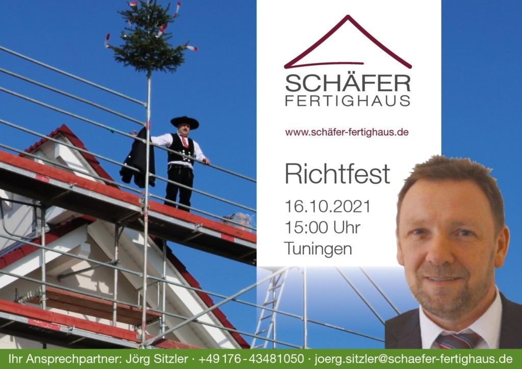 Einladung zum Richtfest in Tuningen