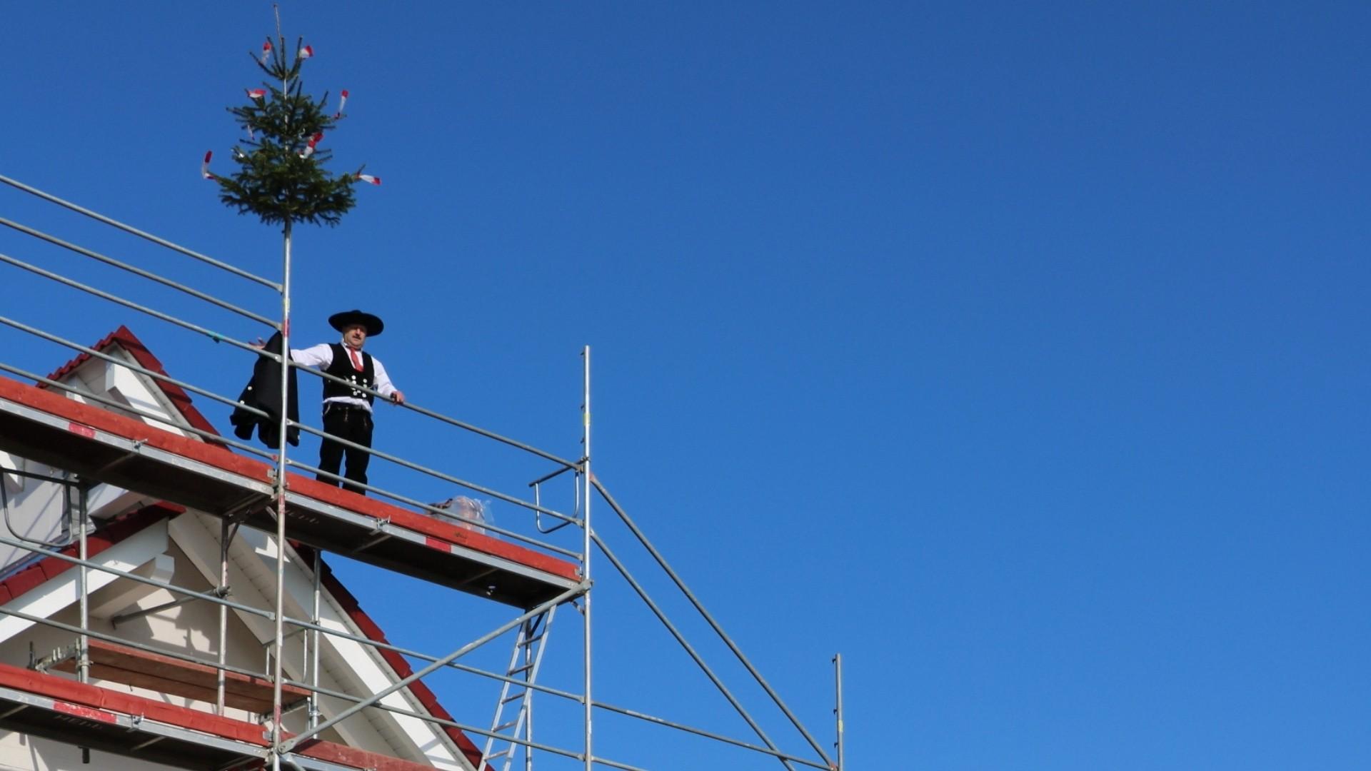 Herzliche Einladung zum Richtfest eines Schäfer Fertighauses in Tuningen am Samstag, den 16. Oktober
